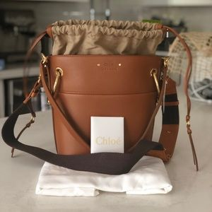 Chloé Roy Small Caramel Bucket Handbag